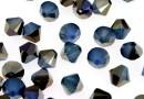 Swarovski, bicone bead, white opal sky blue, 6mm - x10