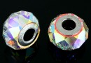 Swarovski, becharmed briolette 5948, aurora borealis, 14mm - x1