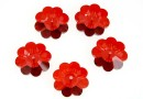 Swarovski, marguerite flower, red magma, 10mm - x4
