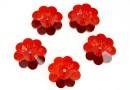 Swarovski, marguerite flower, red magma, 10mm - x4