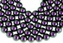 Swarovski pearl, iridescent purple, 8mm - x50