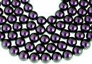 Swarovski pearl, iridescent purple, 4mm - x100