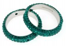 Swarovski, pavé ring, emerald, 18.5mm - x1