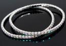 1088 Swarovski paradise shine bracelet, rhodium plated, 18cm - x1