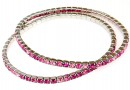 1088 Swarovski happy pink mix bracelet, rhodium plated, 18cm - x1