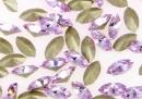 Swarovski navette, fancy chaton, violet, 4mm - x10