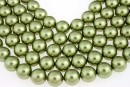 Swarovski pearls, light green, 14mm - x2