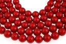 Swarovski pearls, red coral, 14mm - x2