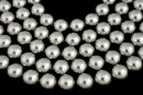 Swarovski pearls, grey, 14mm - x2
