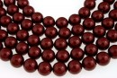 Swarovski pearls, bordeaux, 14mm - x2
