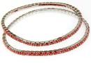 1088 Swarovski Padparadscha bracelet, rhodium plated, 18cm - x1