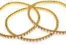 1088 Swarovski rose water opal bracelet, gold plated, 18cm - x1