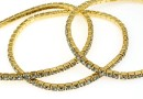 1088 Swarovski black diamond bracelet, gold plated, 18cm - x1