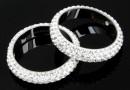 Swarovski, pavé ring, crystal, 18.5mm - x1