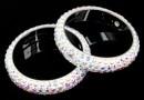 Swarovski, pavé ring, aurora borealis, 18.5mm - x1
