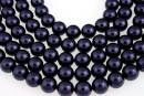 Swarovski pearls, dark purple, 14mm - x2