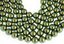 Swarovski pearls, iridescent green, 14mm - x2