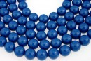 Swarovski pearls, lapis, 14mm - x2