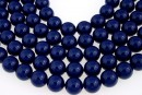Swarovski pearls, dark lapis, 14mm - x2