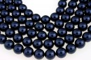 Swarovski pearls, night blue, 14mm - x2