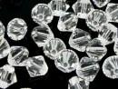 Swarovski, bicone bead, crystal, 8mm - x10