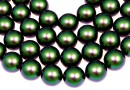 Swarovski pearls, scarabaeus green, 14mm - x2