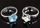 Ring base, 925 silver, Swarovski flower 10mm, inside 17.7- x1