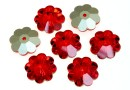 Swarovski, marguerite flower, light siam, 12mm - x4