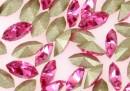 Swarovski navette, fancy chaton, rose, 10mm - x4