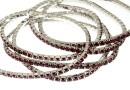 1088 Swarovski siam bracelet, rhodium plated, 18cm - x1