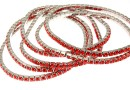 1088 Swarovski hyacinth bracelet, rhodium plated, 18cm - x1