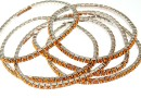 1088 Swarovski tangerine bracelet, rhodium plated, 18cm - x1