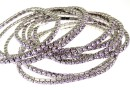 1088 Swarovski purple bracelet, rhodium plated, 18cm - x1