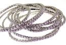 1088 Swarovski purple bracelet, rhodium plated, 18cm - x1