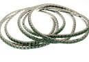 1088 Swarovski palace green opal bracelet, rhodium plated, 18cm - x1