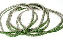 1088 Swarovski fern green bracelet, rhodium plated, 18cm - x1