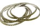 1088 Swarovski khaki bracelet, rhodium plated, 18cm - x1