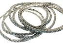 1088 Swarovski Indian sapphire bracelet, rhodium plated, 18cm - x1