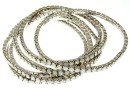 1088 Swarovski white opal bracelet, rhodium plated, 18cm - x1