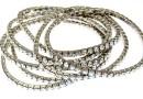 1088 Swarovski moonlight bracelet, rhodium plated, 18cm - x1