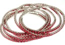 1088 Swarovski Indian pink bracelet, rhodium plated, 18cm - x1