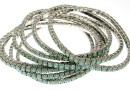 1088 Swarovski pacific opal bracelet, rhodium plated, 18cm - x1