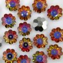 Swarovski, marguerite flower, volcano, 12mm - x4