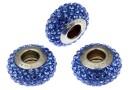 Swarovski, becharmed pavé, dark blue sapphire, 13.5mm - x1