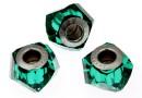 Swarovski, becharmed helix, emerald, 14mm - x1