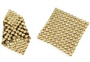 Swarovski, crystal mesh, golden shadow, 3.2x3.2cm - x1
