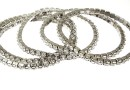 1088 Swarovski 4mm crystal bracelet, rhodium plated, 18cm - x1
