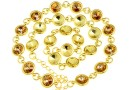 Bracelet base, 12 Link, gold-plated 925 silver, rivoli 6mm - x1