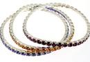 Set 3 1088 Swarovski Romantic bracelets, silver plated, 18cm - x1