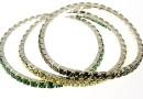 Set 3 1088 Swarovski Progressive bracelets, silver plated, 18cm - x1